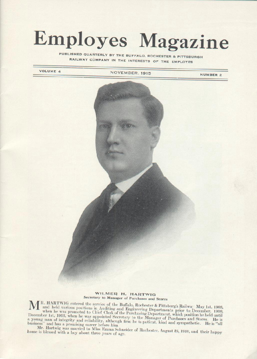 Wilmer H. Hartwig magazine cover